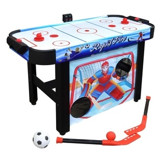 Rapid Fire 42-in 3-in-1 Air Hockey Multi-Game Table