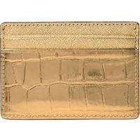 95411057f6f8 Michael Kors Jet Set Travel Metallic Embossed-Leather - Card Case - Gold -  32F7MF6D0E