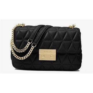 d5f2b98fd2 Shop Michael Kors Sloan Large Quilted-Leather Shoulder Bag - Black -  30S7GSLL3L-001 - Free Shipping Today - Overstock - 17909936
