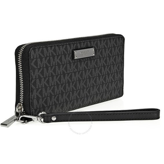 e1bf6c5ae2662a Shop Michael Kors Jet Set Travel Logo Continental - Wallet - Black -  32S7STTE9B-001 - Free Shipping Today - Overstock - 17909945