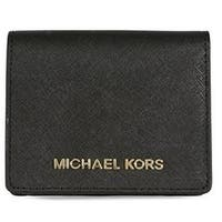 90a1389f9032 Free Shipping. Michael Kors Jet Set Travel Saffiano Leather - Card Holder -  Black - 32T4GTVF2L-001