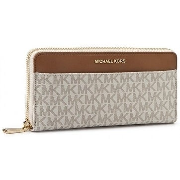 e91cc13e8d8b Shop Michael Kors Mercer Logo Continental - Wallet - Vanilla - 32S7GM9E9B- 150 - Free Shipping Today - Overstock - 17909967