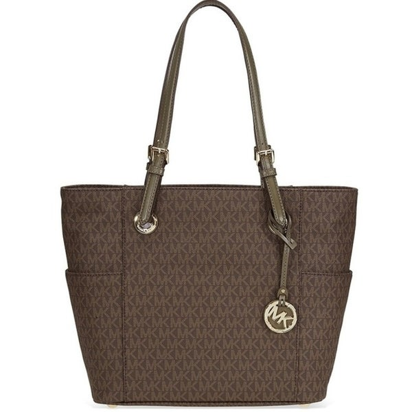 332efc83d2a4 Shop Michael Kors Jet Set Travel Small Logo - Tote - Brown Olive -  30H6GTTT3V-247 - Free Shipping Today - Overstock - 17909970