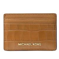 Michael Kors Money Pieces Crocodile-effect Leather - Card Holder - Acorn - 32F7GF6D0E-532