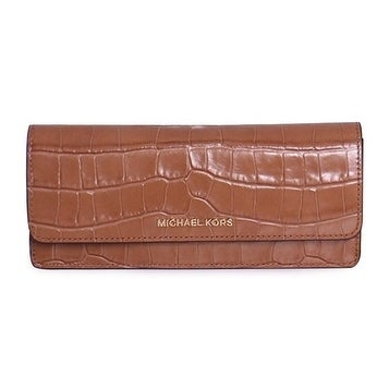 8c88c818256b86 Shop Michael Kors Money Pieces Crocodile-embossed Leather - Flat Wallet -  Acorn - 32F7GF6F2E-532 - Free Shipping Today - Overstock - 17909985