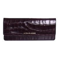 69f473c87201 Michael Kors Money Pieces Crocodile-embossed Leather - Flat Wallet - Damson  - 32F7GF6F2E-