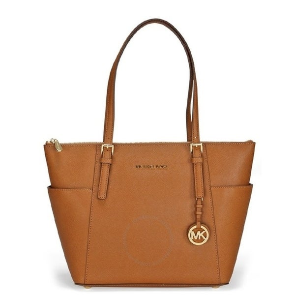9ae6206ed956 Shop Michael Kors Jet Set Top-Zip Saffiano Leather - Tote - Acorn -  30F2GTTT8L-532 - Free Shipping Today - Overstock - 17909988