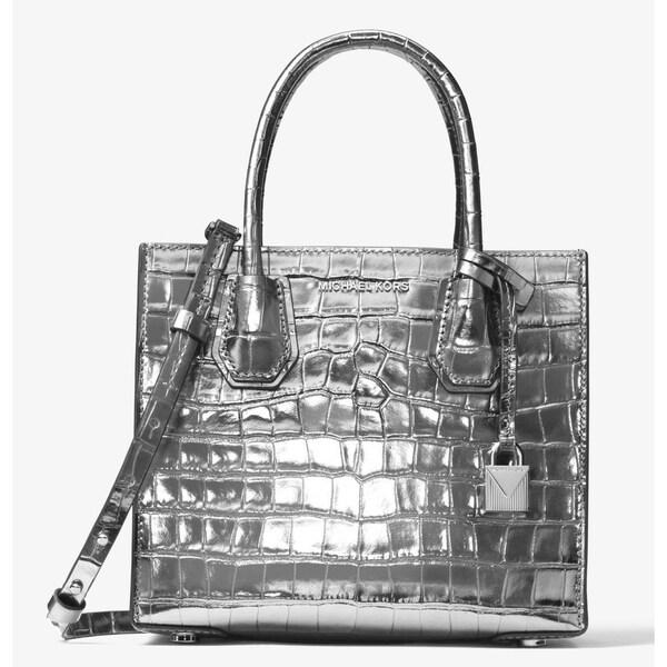 ba70319777b27a Shop Michael Kors Mercer Metallic Embossed-Leather - Crossbody - Gunmetal -  30F7MM9M6K-041 - Free Shipping Today - Overstock - 17909989