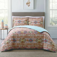 Style 212 Allegra Tribal Stripe 3-Piece Cotton Face Comforter Set