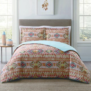 Style 212 Allegra Tribal Stripe 3-Piece Cotton Face Comforter Set (3 options available)