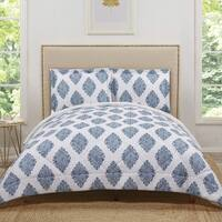 Truly Soft Annika Damask Printed 3 Piece Comforter Set