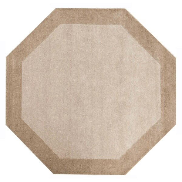 Off-White Border (8'x8') Octagon Rug - 8' x 8'