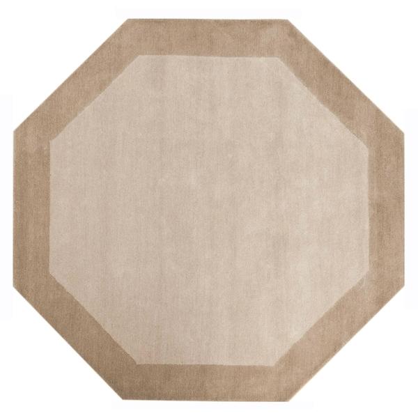 Off-White Border (6'x6') Octagon Rug - 6' x 6'