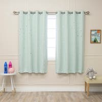 Aurora Home Star Cut Out Room Darkening Curtain Panel Pair