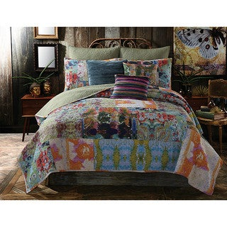 Tracy Porter Mathilde Floral Printed Cotton Quilt (Shams Sold Separately)