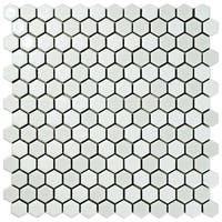 SomerTile 11.625x11.875-inch Asteroid Hex White Porcelain Mosaic Floor and Wall Tile (10 tiles/9.6 sqft.)