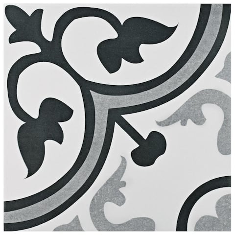 SomerTile 12.375x12.375-inch Fabiola Classic Ceramic Floor and Wall Tile
