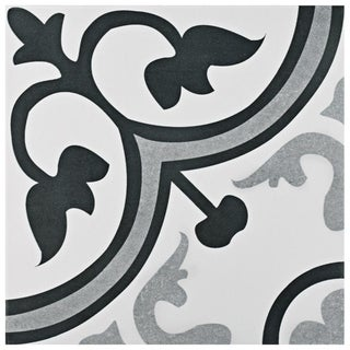 SomerTile 12.375x12.375-inch Fabiola Classic Ceramic Floor and Wall Tile (10 tiles/10.96 sqft.)