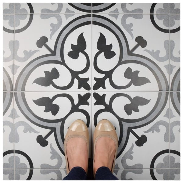 Somertile 12 375x12 375 Inch Fabiola Ceramic Floor And