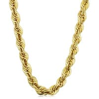 Fremada Men's Yellow Gold Filled 6-mmRope Chain Necklace