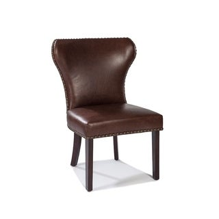 Lazzaro Leather Dining Chair- SOLD IN PAIR