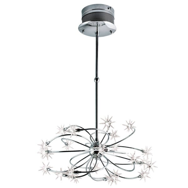 Eurofase Starburst 24-Light Chandelier, Chrome Finish - 12899-012