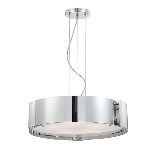 "Eurofase Dervish 5-Light Pendant, Chrome Finish - 12531-042 - 22"" in diameter"