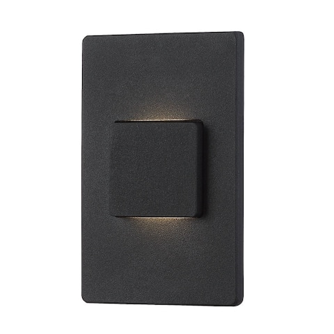 """Eurofase In-Wall LED, Black - 30287-020 - 5"""" high x 3"""" wide - 5"""" high x 3"""" wide"""