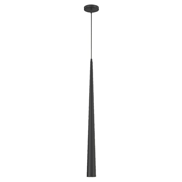 Eurofase Sliver Large 1-Light Pendant, Black Finish - 20446-031