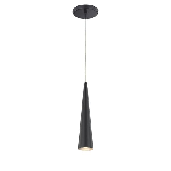 Eurofase Sliver Small 1-Light Pendant, Black Finish - 20444-037