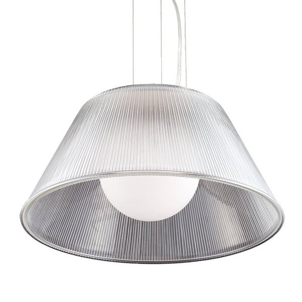 Eurofase Ribo 1-Light Large Pendant, Chrome Finish, Clear Shade - 23068-018
