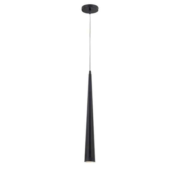 Eurofase Sliver Medium 1-Light Pendant, Black Finish - 20445-034