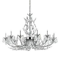 Eurofase Giselle 12-Light Chandelier, Chrome Finish - 19394-015