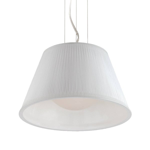 Eurofase Ribo 1-Light Small Pendant, Chrome Finish, Opal White Shade - 23067-042