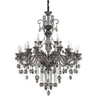 Eurofase Venetian 21-Light Chandelier, Smoke Finish - 23128-026