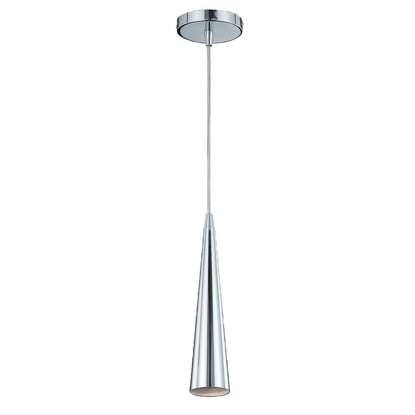Eurofase Sliver Small 1-Light Pendant, Chrome Finish - 20444-013
