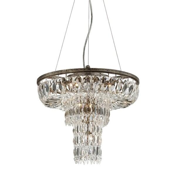Eurofase Rosalia 9-Light Pendant, Plated Silver Finish - 25649-017