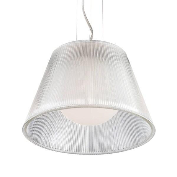 Eurofase Ribo 1-Light Small Pendant, Chrome Finish, Clear Shade - 23067-011