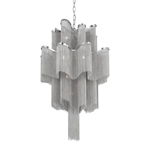 Eurofase Cadena 12-Light Pendant, Nickel Finish - 23109-018