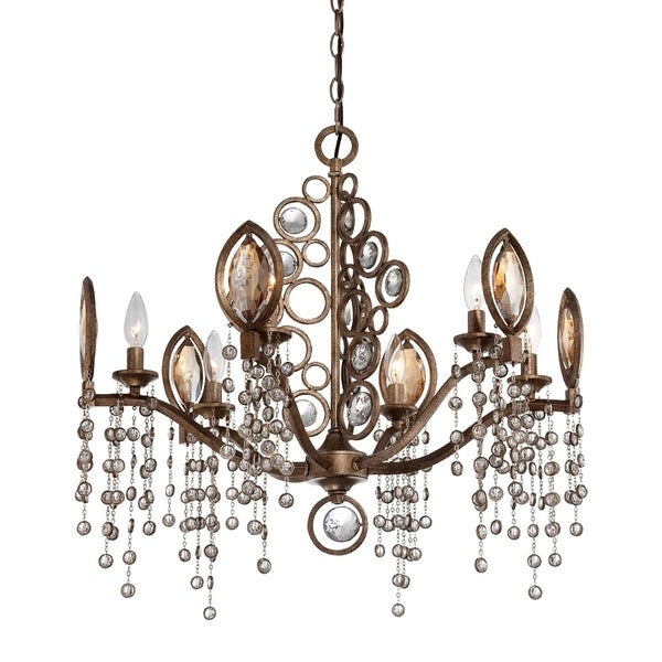 "Eurofase Capri 6-Light Chandelier, Bronze Finish - 25655-018 - 26.25"" high x 26.25"" in diameter"