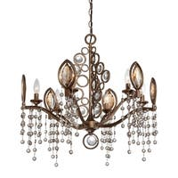 Eurofase Capri 6-Light Chandelier, Bronze Finish - 25655-018