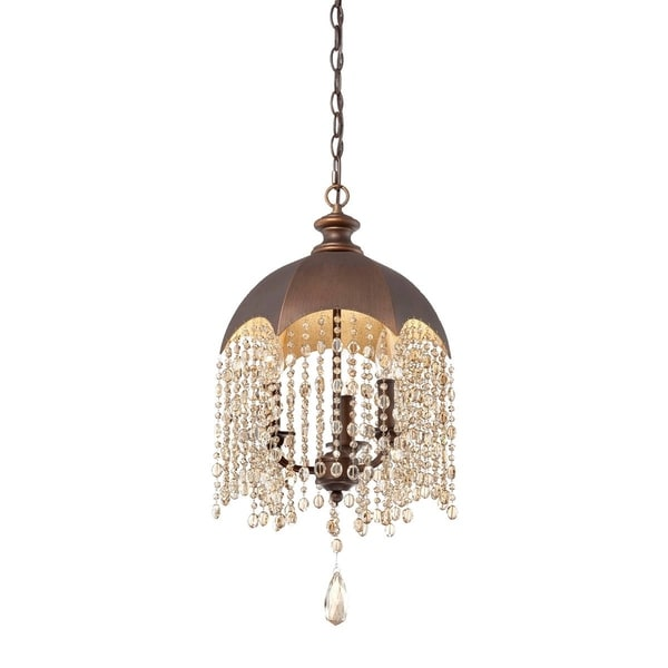 Eurofase Ombrello 3-Light Pendant, Oil Rubbed Bronze Finish - 25652-017