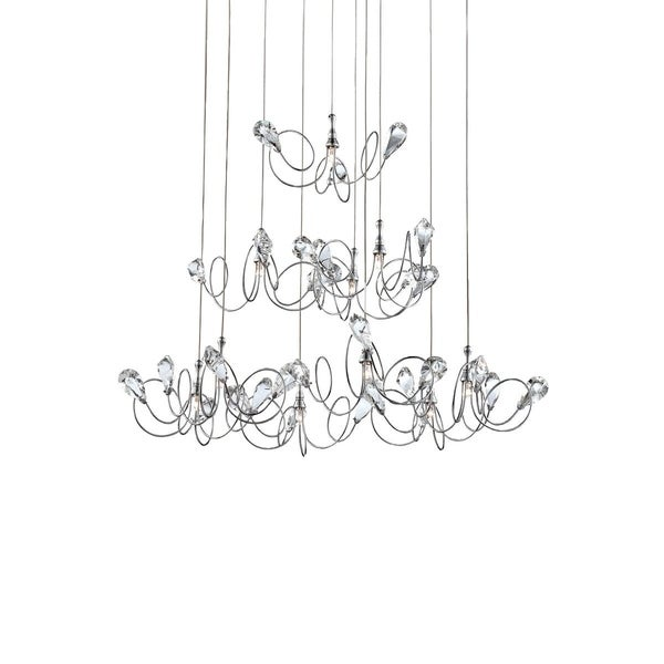 Eurofase Volare 10-Light Pendant, Chrome Finish - 25681-024