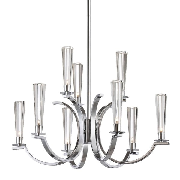 Eurofase Cromo 9-Light Chandelier, Polished Chrome Finish - 25634-013