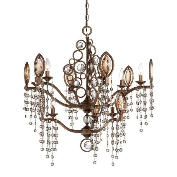 Eurofase Capri 9-Light Chandelier, Bronze Finish - 25656-015