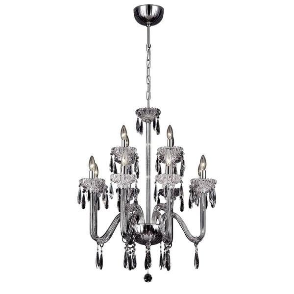 """Eurofase Villa 12-Light Chandelier, Chrome Finish - 26238-012 - 33"""" high x 28"""" in diameter"""