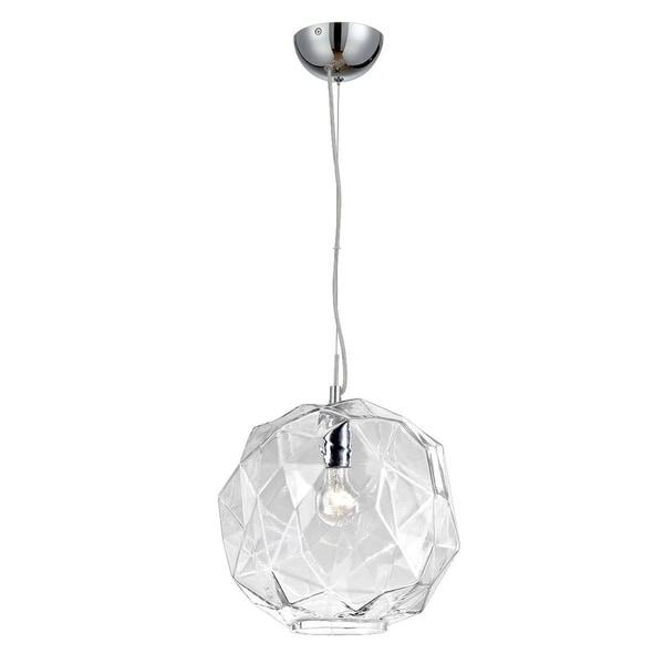 Eurofase Studio 1-Light Pendant, Chrome Finish, Clear Glass Shade - 26249-018