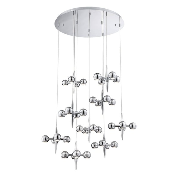 Eurofase Pearla 36-Light LED Chandelier, Chrome Finish - 26233-017