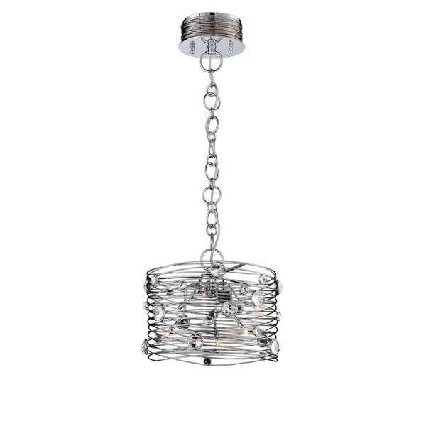 "Eurofase Corfo 6-Light Chandelier, Chrome Finish - 26341-019 - 11"" high x 12.5"" in diameter"