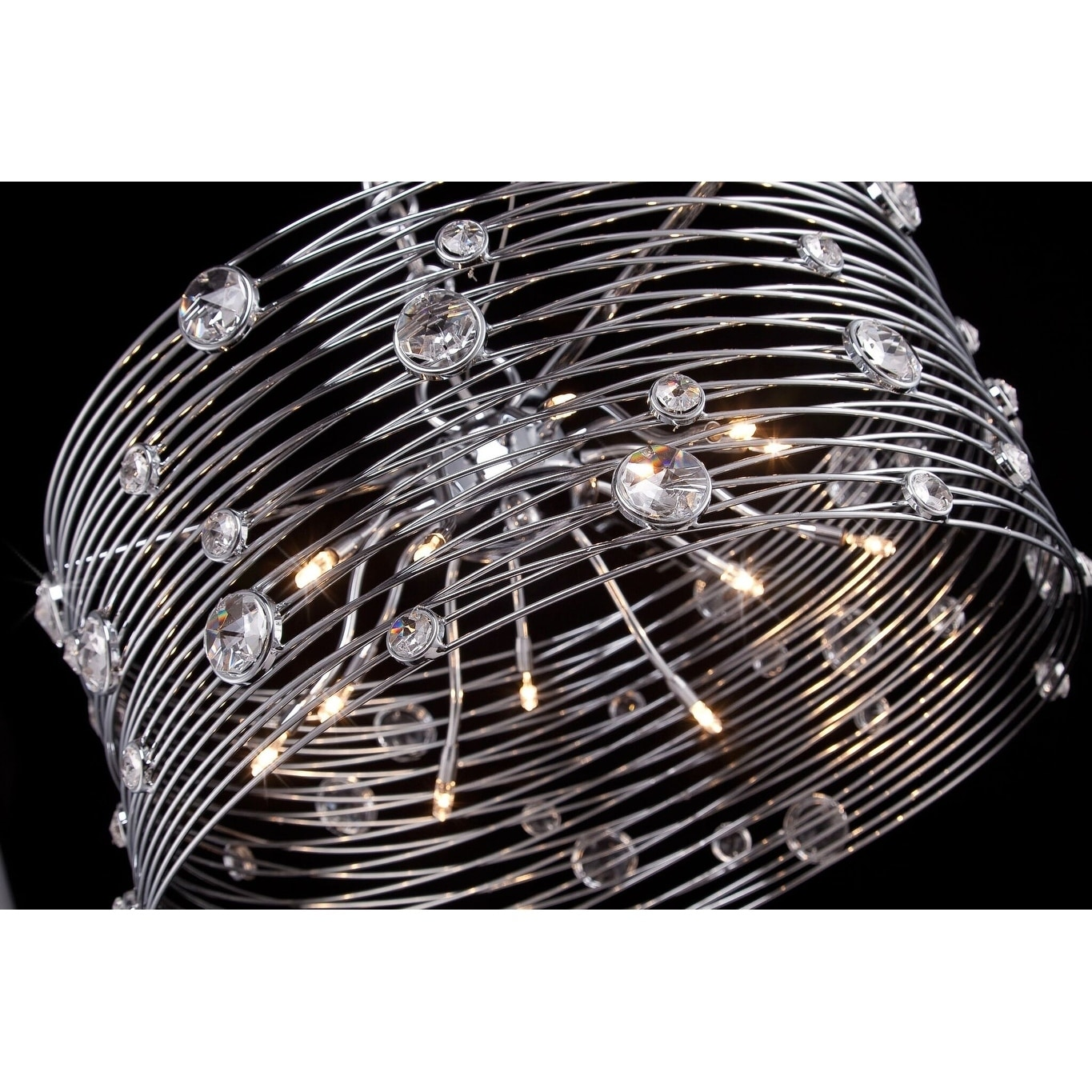 Eurofase Corfo 6 Light Chandelier Chrome Finish 26341 019 11 High X 12 5 In Diameter 11 High X 12 5 In Diameter Overstock 17910605